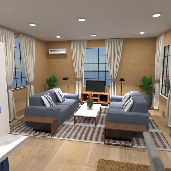 планировки дом гостиная кухня архитектура 3d
