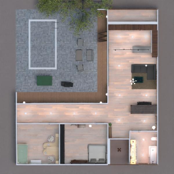 floorplans casa decoração dormitório cozinha área externa 3d