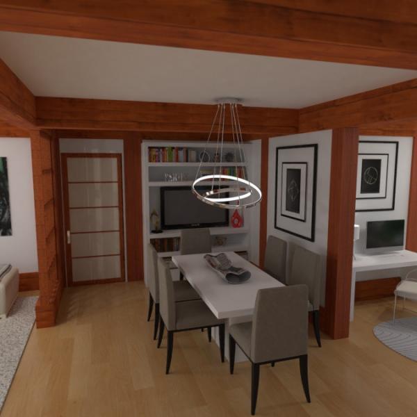 floorplans casa muebles decoración exterior paisaje 3d