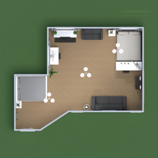 floorplans apartment bedroom office studio 3d
