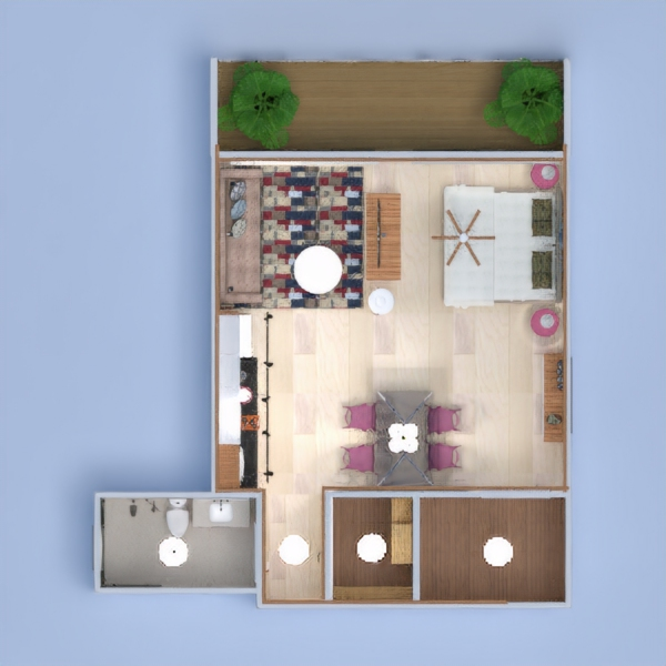 floorplans wohnung dekor schlafzimmer küche beleuchtung architektur lagerraum, abstellraum 3d