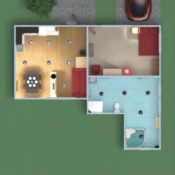 floorplans apartment house furniture bathroom bedroom kitchen 3d