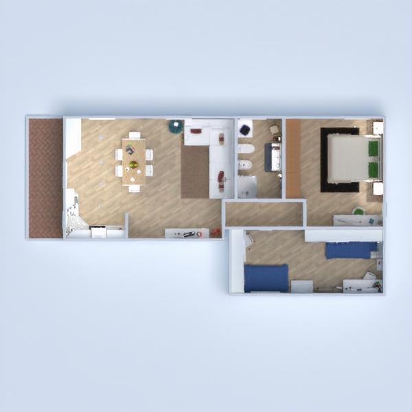 floorplans apartamento bricolaje cocina iluminación arquitectura 3d