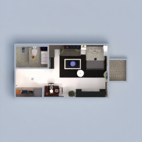 floorplans apartment terrace decor bedroom kitchen studio 3d