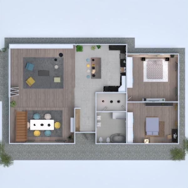 planos apartamento casa cocina 3d