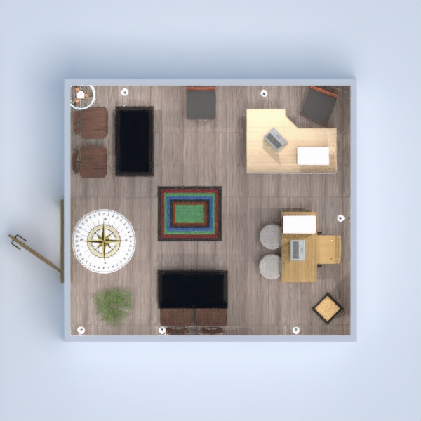 floorplans baldai sandėliukas 3d