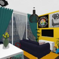 floorplans apartamento casa de banho dormitório quarto cozinha sala de jantar estúdio 3d