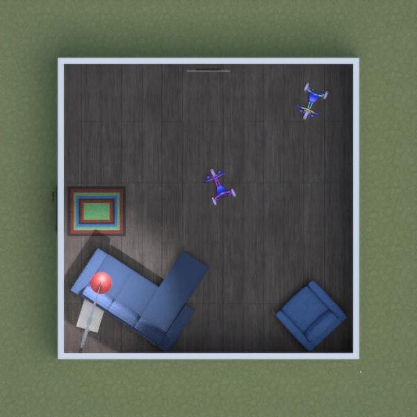 floorplans meble pokój diecięcy oświetlenie 3d