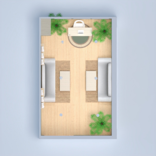 floorplans salón despacho 3d