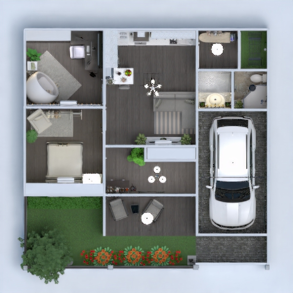планировки дом ванная гараж кухня студия 3d