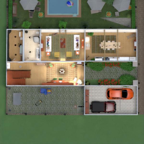 floorplans casa terraza muebles decoración cuarto de baño dormitorio salón garaje cocina exterior habitación infantil despacho iluminación hogar comedor arquitectura trastero descansillo 3d