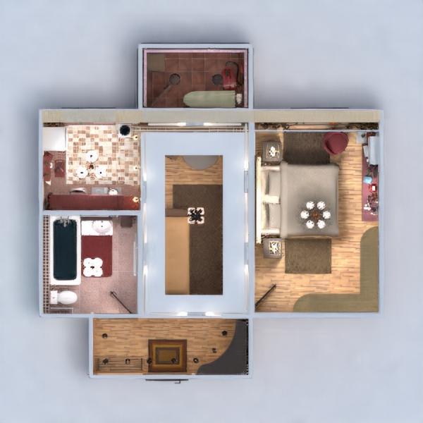 floorplans apartamento decoración cuarto de baño dormitorio salón reforma comedor trastero estudio descansillo 3d