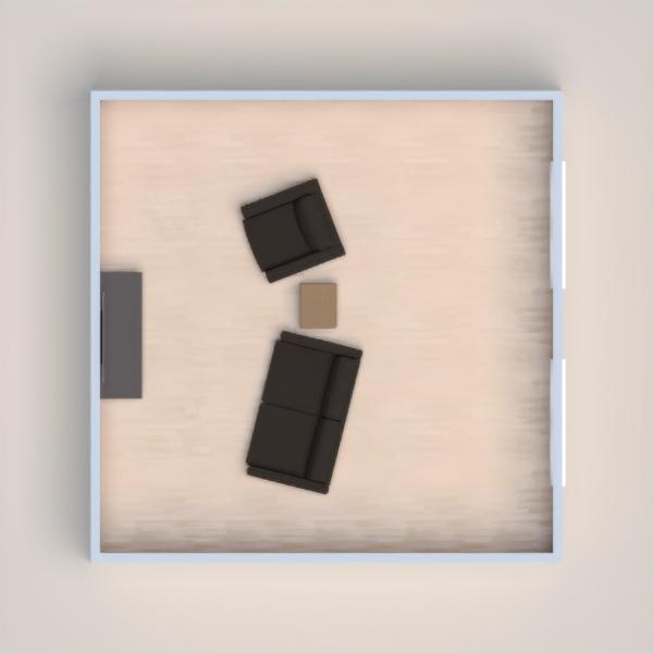 floorplans baldai dekoras svetainė 3d