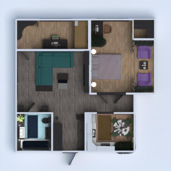 floorplans appartamento arredamento decorazioni bagno camera da letto saggiorno cucina cameretta sala pranzo ripostiglio vano scale 3d