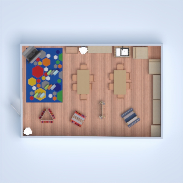 floorplans furniture decor kids room studio 3d