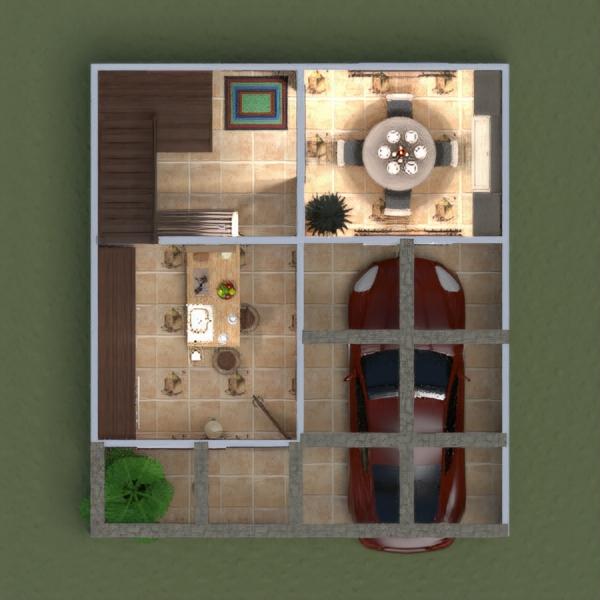 floorplans casa cuarto de baño dormitorio garaje cocina comedor 3d