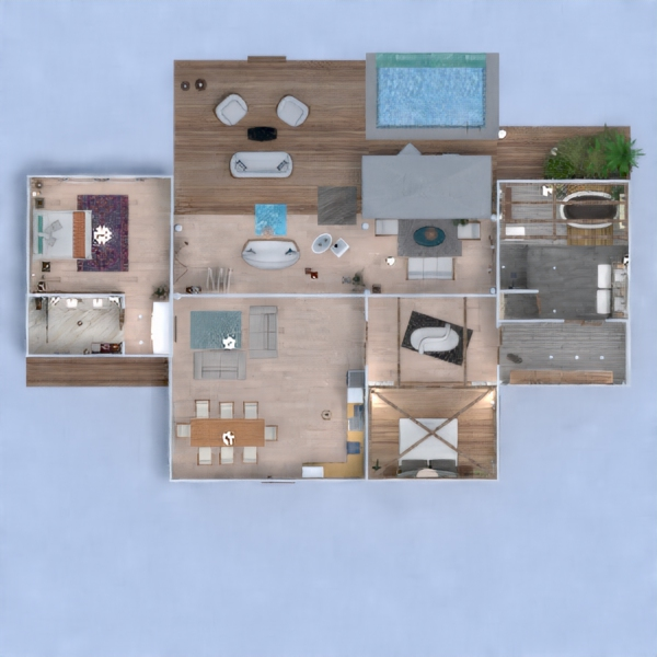 floorplans house terrace bedroom outdoor architecture 3d