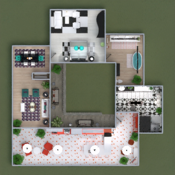 floorplans apartment house furniture architecture 3d