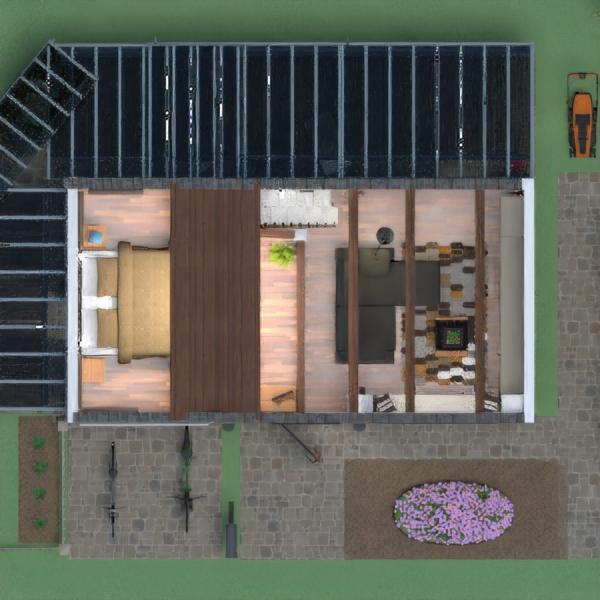 floorplans casa terraza cocina paisaje 3d
