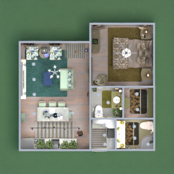 floorplans casa decoração 3d