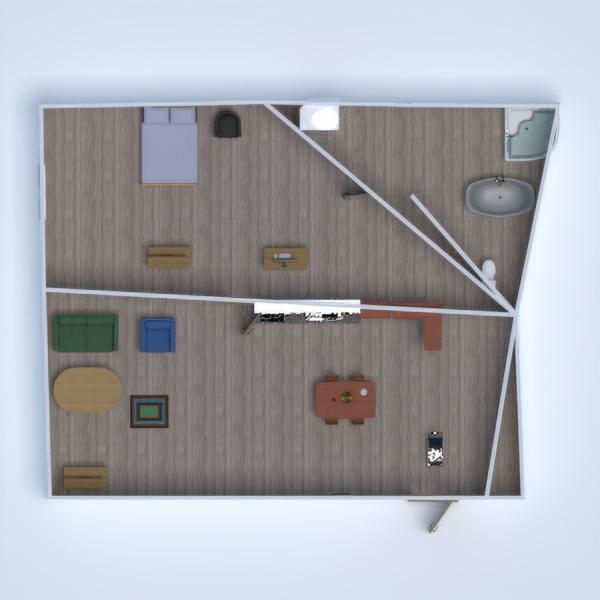 floorplans appartamento bagno camera da letto saggiorno sala pranzo 3d