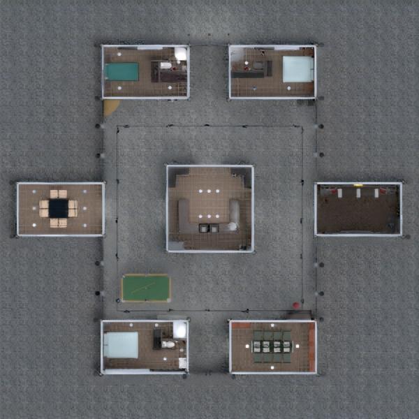 floorplans maison meubles cuisine 3d