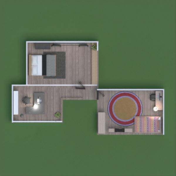 floorplans namas dekoras garažas vaikų kambarys prieškambaris 3d