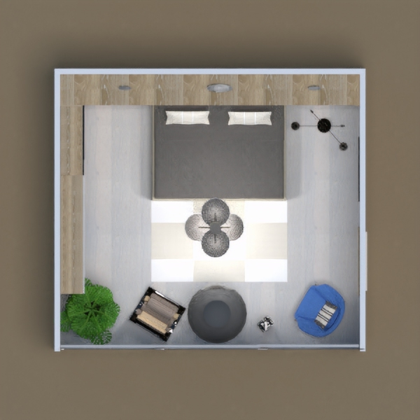 floorplans mobílias dormitório 3d