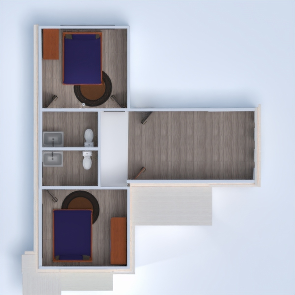 floorplans maison meubles salon 3d
