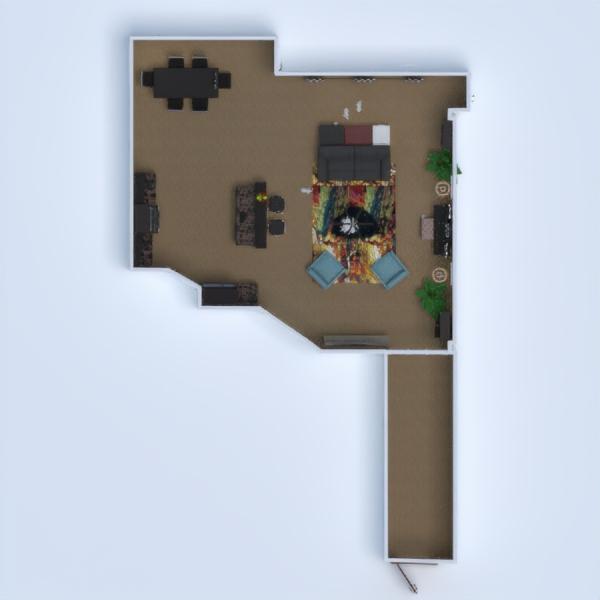 floorplans pokój dzienny oświetlenie 3d