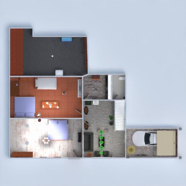 floorplans casa dormitorio salón cocina iluminación 3d