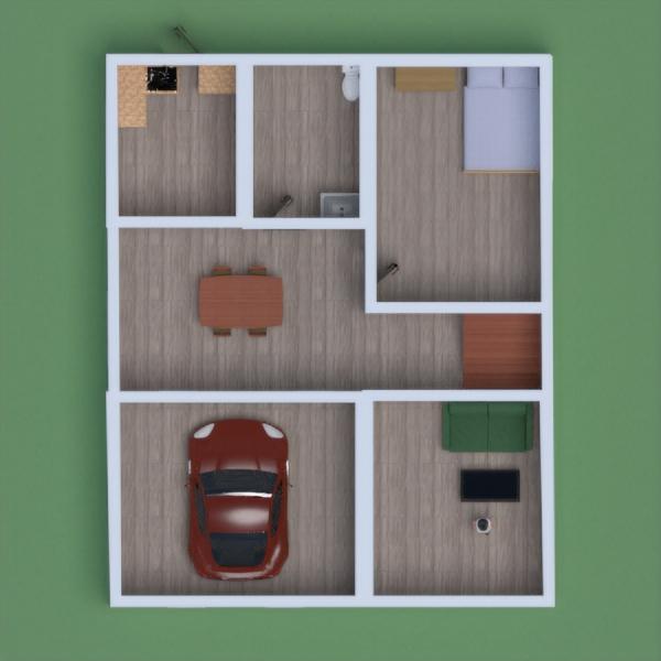 floorplans architettura monolocale 3d