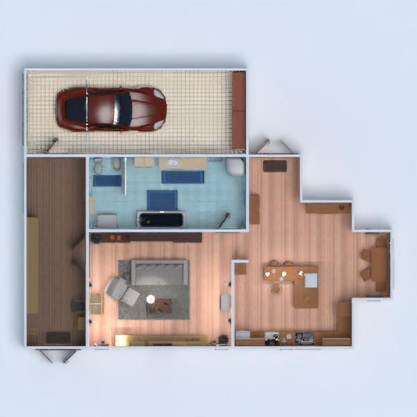 floorplans dom wystrój wnętrz pokój dzienny kuchnia 3d