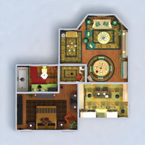 floorplans namas dekoras svetainė 3d