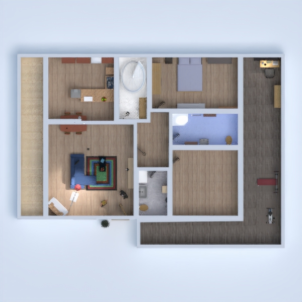floorplans apartment furniture 3d
