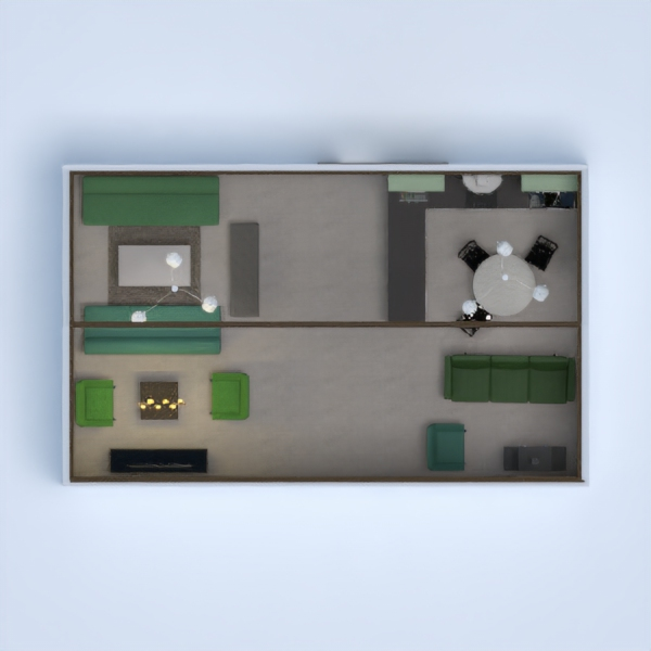 floorplans kuchnia jadalnia 3d
