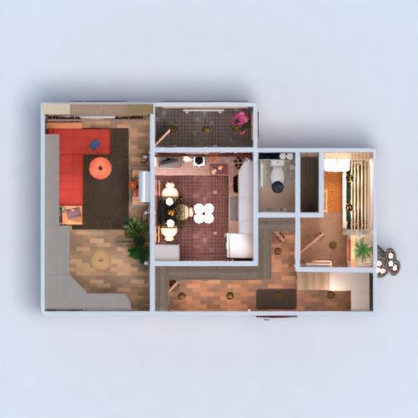 floorplans apartamento muebles decoración bricolaje cuarto de baño salón iluminación reforma trastero descansillo 3d