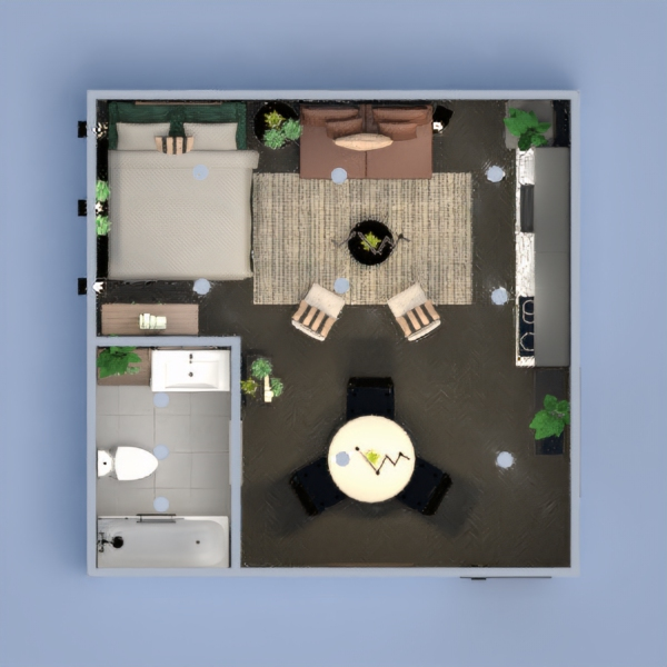 floorplans decor kitchen lighting dining room studio 3d