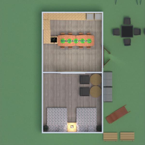floorplans meubles chambre à coucher cuisine extérieur salle à manger 3d
