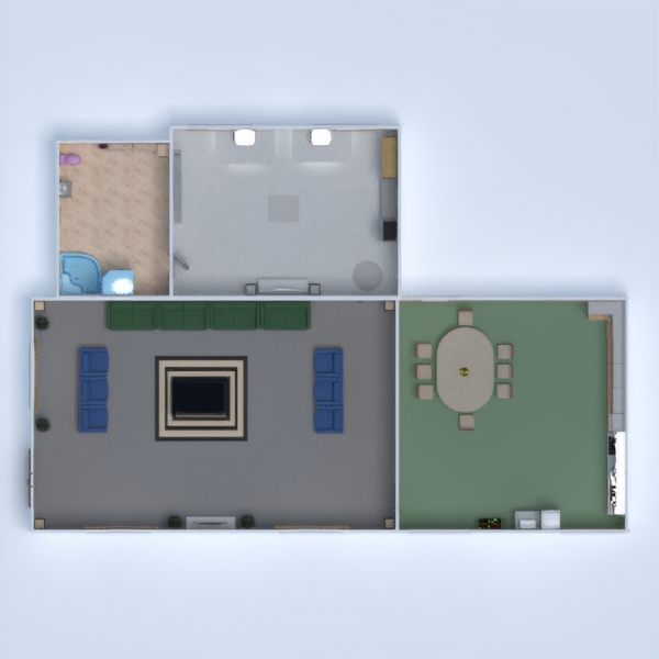 floorplans maison meubles décoration bureau eclairage 3d
