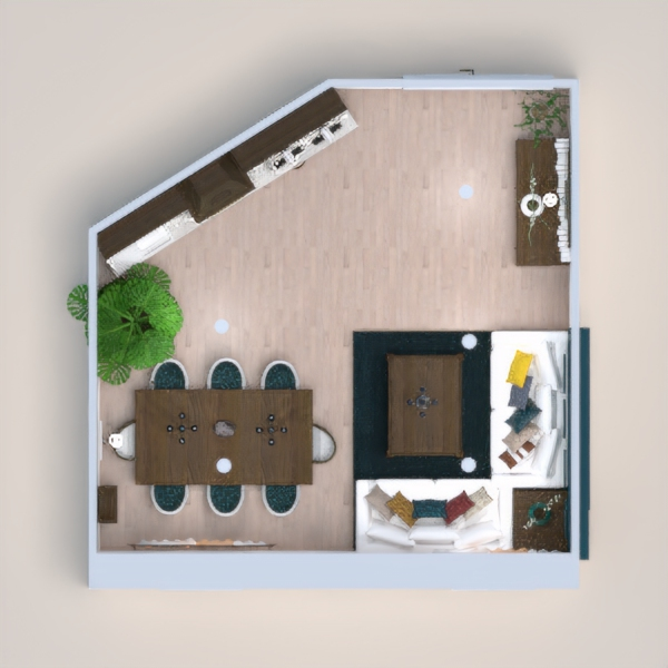 floorplans living room kitchen dining room 3d