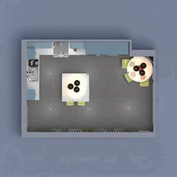 floorplans cuisine eclairage salle à manger 3d