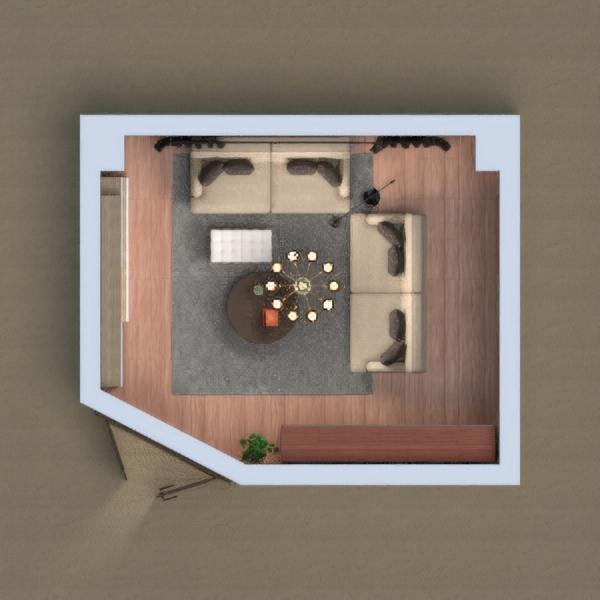 floorplans meble wystrój wnętrz pokój dzienny biuro oświetlenie 3d