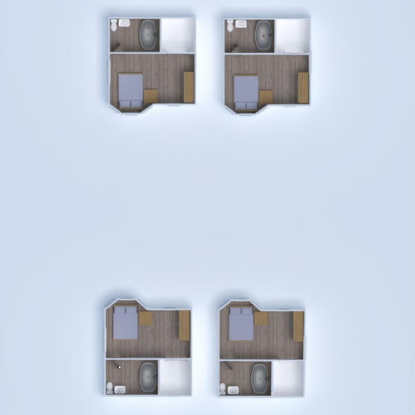 floorplans apartment terrace studio 3d