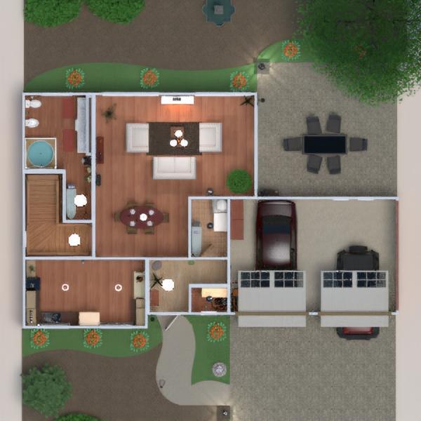 floorplans дом терраса мебель декор ванная спальня гостиная гараж кухня улица освещение ландшафтный дизайн столовая хранение прихожая 3d