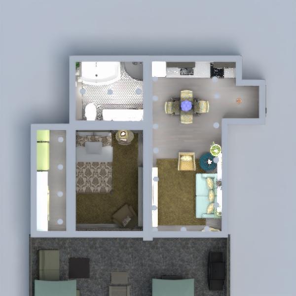 floorplans apartamento terraza decoración 3d