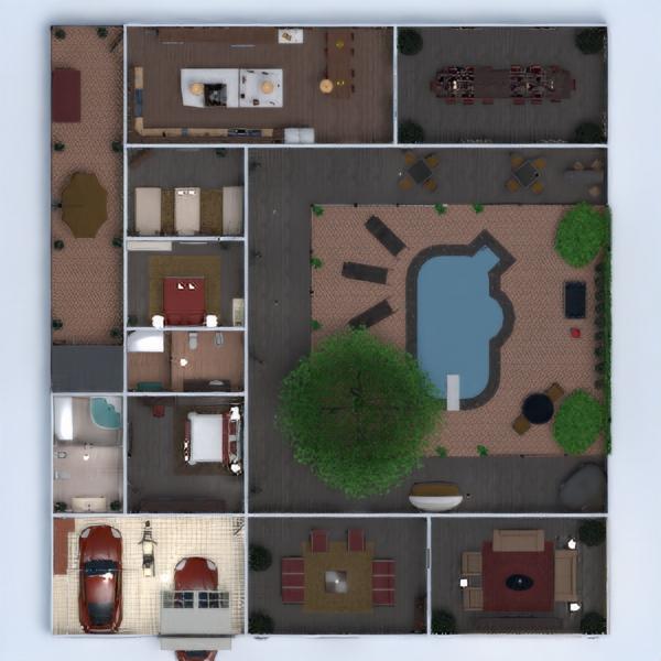floorplans dom meble sypialnia pokój dzienny krajobraz jadalnia architektura wejście 3d