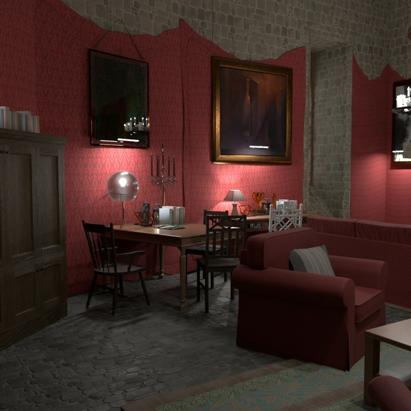 floorplans meubles salon eclairage rénovation 3d