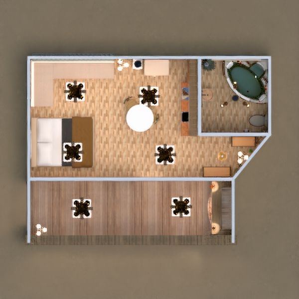 floorplans house terrace furniture decor bathroom outdoor lighting landscape 3d