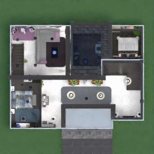 floorplans apartamento casa terraza muebles decoración bricolaje cuarto de baño dormitorio salón garaje cocina exterior iluminación comedor arquitectura trastero descansillo 3d